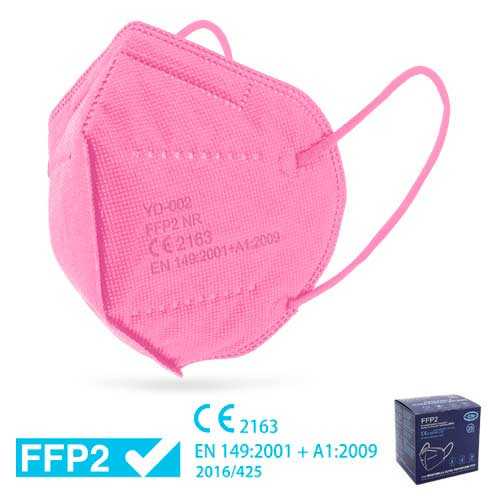 Mascareta FFP2 amb Certificat CE ROSA