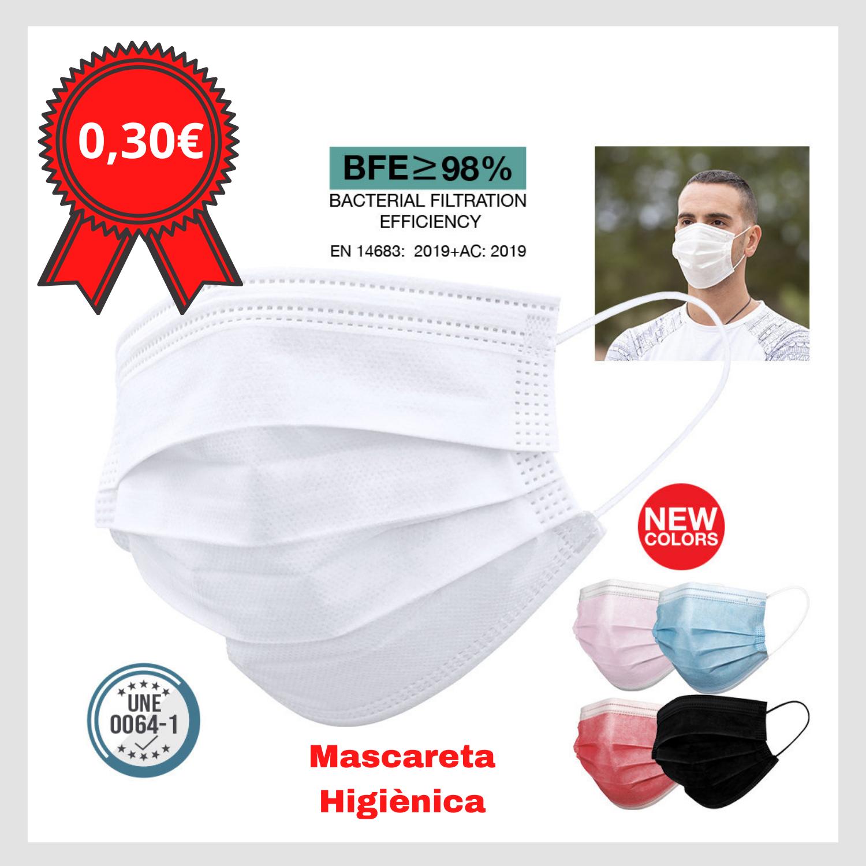 Mascareta higiènica Color Negre Andorra